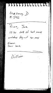 Detective Milton Norris Spiral Pad Notes p2